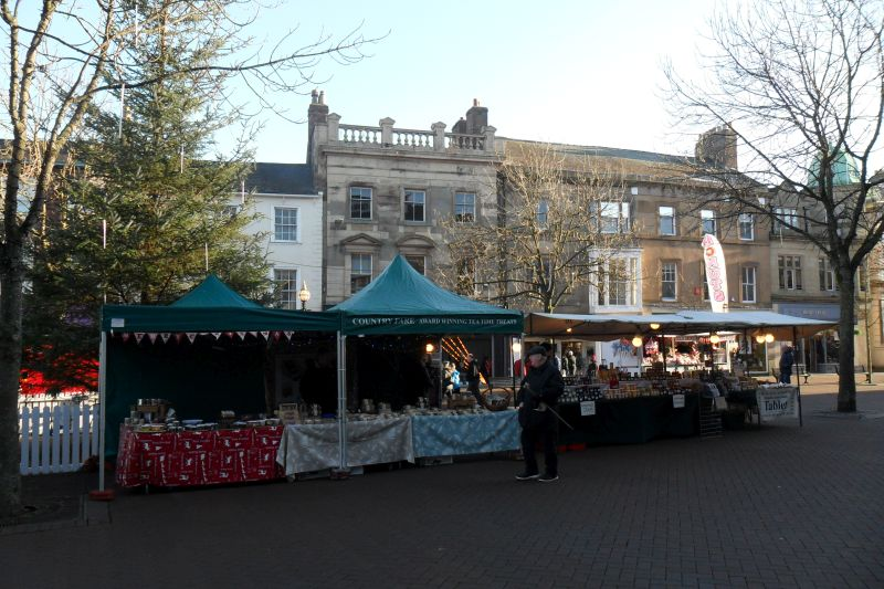Carlisle market square christmas stalls dec 2016