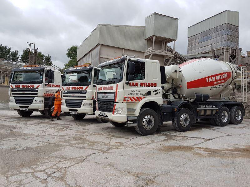 Concrete mixer trucks with capacities between 6 & 8m3