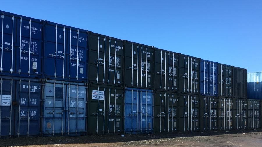 Self Storage in a Secure Container yard with 24 hour access.