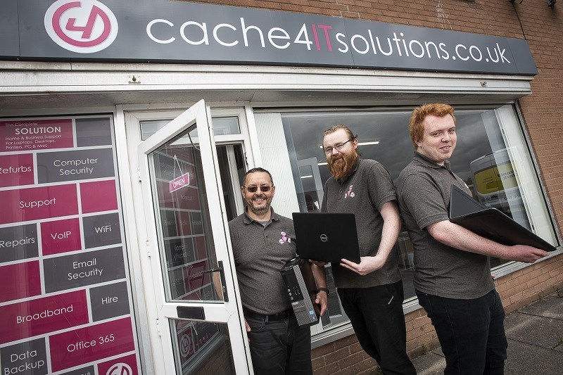 Cache 4IT Solutions new office Lowry Hill
